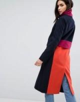 ASOS Coat in Colourblock