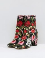 ASOS REBEKA Jacquard Ankle Boots ~ floral footwear