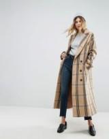 ASOS Wool Coat in Check / long checked coats