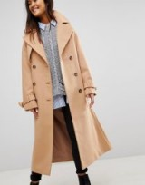 ASOS Wool Trench Coat / camel coats / neutral toned outerwear