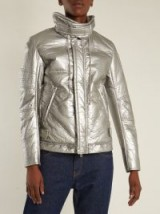 HELMUT LANG Astro Moto 1999 quilted jacket ~ metallic silver jackets