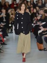 JOSEPH Asymmetric ribbed-knit wool sweater ~ chic knitwear