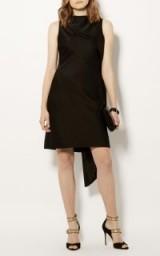 Karen Millen ASYMMETRIC SHIFT DRESS BLACK – evening chic – lbd