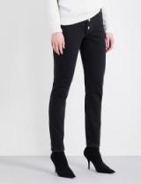 BALENCIAGA Tube straight high-rise jeans   black denim