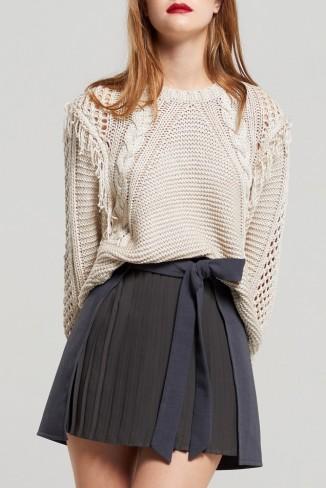 STORETS Barbara Pleated Mini Skirt