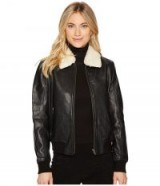 BB Dakota Burgess Sherpa Trim Leather Jacket #jackets #black #casual #stylish