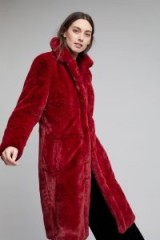 Gestuz Bisera Faux Fur Longline Coat / fluffy winter coats