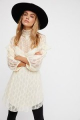 Free People Bittersweet Mini Dress | cream vintage style dresses | romantic fashion