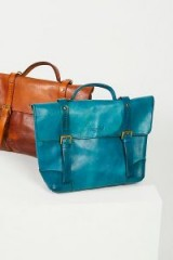 Old Trend Brookside Leather Messenger | ocean-blue bags | messengers