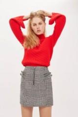 Topshop Buckle Side Checked Mini Skirt   dogtooth check skirts