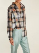 ASHISH Button-down checked sequin-embellished shirt | statement shirts | sequinned fashion