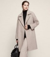 CABE WIDE LAPEL COAT PARCHMENT ~ classic winter coats with style
