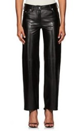 CALVIN KLEIN 205W39NYC Leather Jeans ~ stylish black trousers