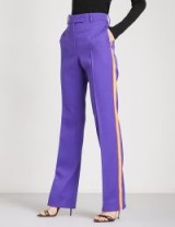 CALVIN KLEIN 205W39NYC Striped straight wool-twill trousers | purple pants
