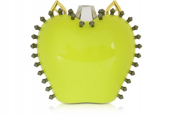 CARLOTTA ROMA Topaz Mirror Mylie Clutch / stud/spike embellished bags