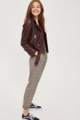 Topshop Checked Button Trousers   check print pants