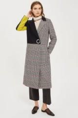 Topshop Checked Colour Block Coat / modern check print coats
