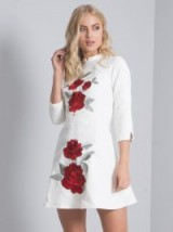 CHI CHI ROSEY DRESS – white floral print party dresses