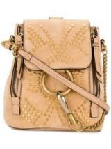 CHLOÉ Mini Faye backpack / small studded backpacks