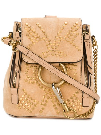 CHLOÉ Mini Faye backpack / small studded backpacks
