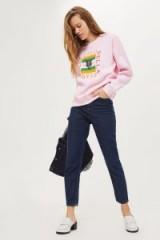 Tee & Cake Ciao Bella Panther Sweatshirt / light pink slogan sweatshirts