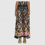 GUCCI Climbing Roses print pajama pant | wide leg floral silk trousers