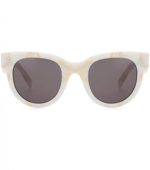 CÉLINE EYEWEAR Baby Audrey cat-eye sunglasses / marble-effect frames