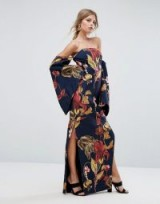 C/Meo Collective Fusion Printed Maxi Dress ~ long floral print dresses