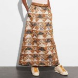 COACH 1941 Patchwork Maxi Skirt | long tonal-brown skirts