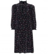 COACH Western floral-printed silk dress / prairie dresses