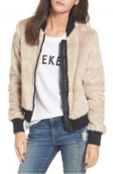 Coffee Shop Faux Fur Bomber Jacket ~ casual winter glamour