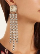ISABEL MARANT Crystal-embellished clip-on earrings ~ statement jewellery
