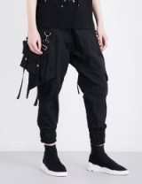 D.GNAK Detachable pocket-detail mid-rise drill jogging bottoms | contemporary joggers | streetwear trousers