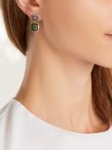 SELIM MOUZANNAR Diamond, tsavorite, tanzanite & gold Mina earrings ~ luxe jewellery