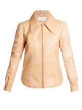 CHLOÉ Dog ear-collar patent-leather jacket ~ beige jackets ~ 70s luxe style fashion