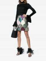 Dolce & Gabbana A-Line Jacquard Mini-Skirt ~ beautiful Italian fashion ~ patchwork skirts