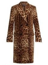 DOLCE & GABBANA Double-breasted leopard-print velvet coat ~ luxurious winter coats ~ gorgeous Italian outerwear