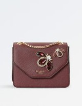 DUNE Elady jewel-embellished shoulder bag – jewelled berry-red bags