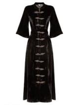 RHODE RESORT Elin tie-waist velvet dress ~ long black dresses ~ luxe style fashion
