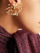 ELLERY‎ Gold-Plated Freshwater Pearl Earrings ~ statement jewellery
