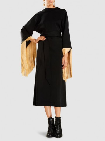 ‎ELLERY‎ Ritz Fringed Midi Dress ~ chic lbd