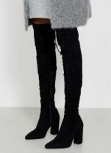 MINT VELVET ELORA BLACK OVER THE KNEE BOOT / stylish winter boots