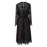 L.K. BENNETT ELOUISE BLACK LACE DRESS