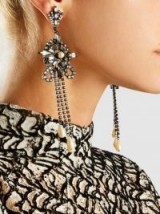 ERICKSON BEAMON‎ China Club Pearl And Crystal Earrings ~ statement jewellery