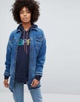 Eco Edit Esprit Longline Denim Jacket – blue jackets