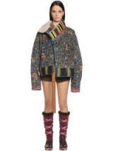 ETRO PRINTED CORDUROY BOMBER JACKET – floral cord jackets