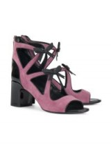 FABRIZIO VITI cut out bow sandals / chunky heeled shoes