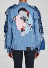 KATYA DOBRYAKOVA Faces sequin-embellished denim jacket   ruffle trim jackets