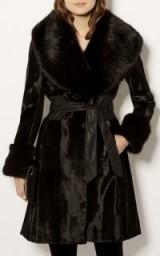 Karen Millen FAUX FUR TAILORED BUTTON COAT – chic winter coats