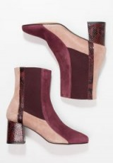 Finery London CLARISSA Boots burgundy / tonal colour block ankle boots